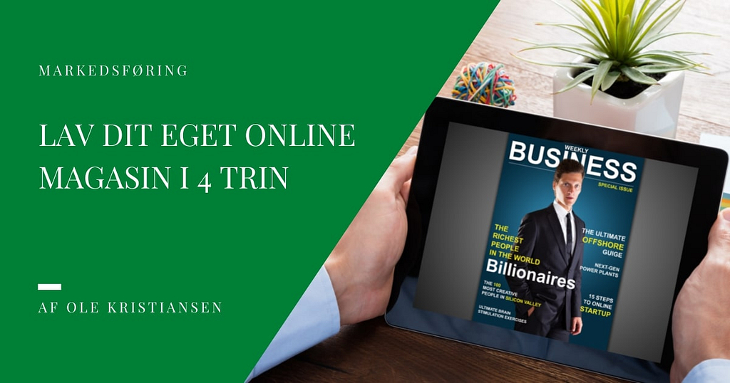 lav dit eget online magasin i 4 trin